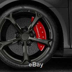 Red withStripes'Charger' Caliper Covers for 06-10 Dodge Charger SRT8 by MGP
