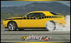 Side Strobe 2008-2009-2010 Dodge Challenger Decal Graphic Decal Factory Stripe