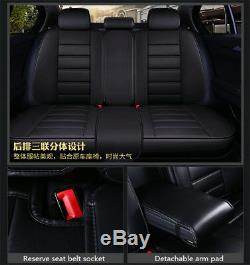 Standard Edition Stripes Luxury PU Leather 5D Car FrontRear Seat Covers Cushion