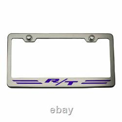 Striped Plate Frame PC Purple R/T Inlay for Dodge Challenger/Charger