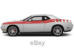 Vinyl Decal Graphics RT SIDE STRIPES Wrap Kit fits Dodge Challenger 2011-18 Red