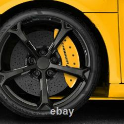 Yellow withStripes Caliper Covers for 2011-2020 Dodge Charger withDual Piston by MGP